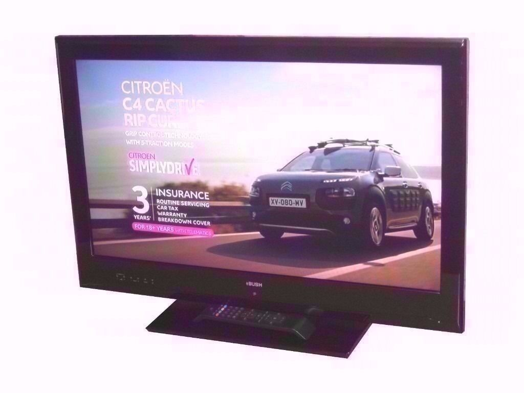 """BUSH 32"""" LCD TV BUILT IN FREEVIEW, USB PORT, MONITOR"""