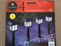 ( New ) Mason & Jones 4 Oriental Lantern Stakes