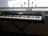 CASIO CTK-1200 KEYBOARD AND STAND