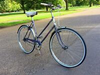 Lovely ladies vintage bicycle. Fully serviced, new tyres, new chain.