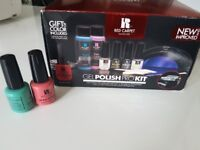 Red carpet Gel manicure polish pro nail kit including led light with usb charger