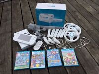 Wii U (WiiU) 5 Games, 6 extra controllers, accessories | Multiplayer Mega Bundle! - Mario Kart +more