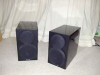 Pair of Yamaha speakers Dimensions: ( W X H X D ) 154 X 274 X 287mm
