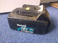 Wanted Makita 18 volt 3.0 Ah Lithium-ion Battery BL1830 In Working Order