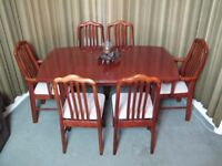 Lovely Cherry Wood Extending Dining table and matching 6 chairs