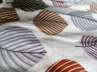 leaf design curtains Dunelmill