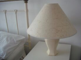 ATTRACTIVE LARGE LAMP AND SHADE - FURNITURE VILLAGE.