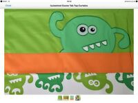 Izziwotnot Ozone Mini Monster Single Duvet Set, Matching Curtains & Cushion
