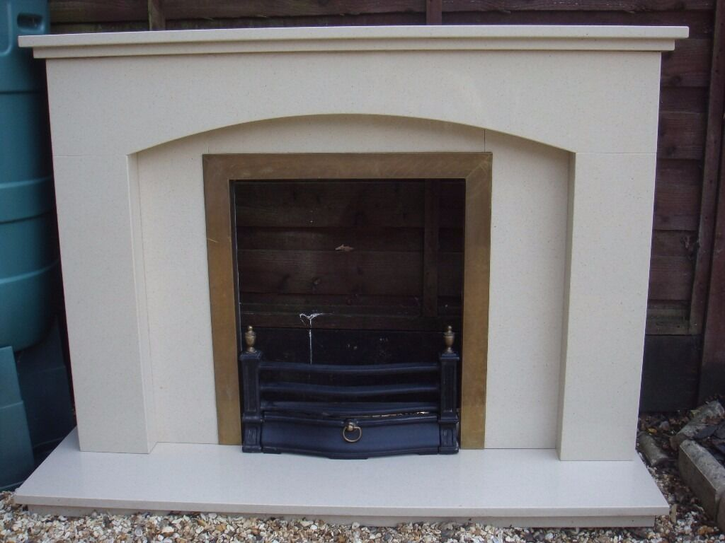 Marble fireplace / hearth