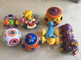 Selection of interactive toys.