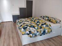 160x200 IKEA Brimnes bed frame with IKEA Lonset slats