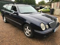 Mercedes E320 CDI Elegance 3226cc Turbo Diesel Automatic 7 Seat estate Y reg 24/07/2001 Blue