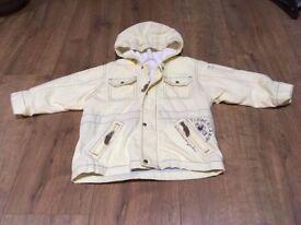 Boys jacket - yellow colour VGC