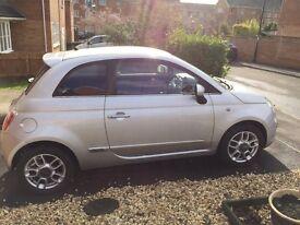 REDUCED AGAIN! BARGAIN!! Silver Fiat 500 Sport, Low Mileage, 12 Month MOT, Low Tax, Excellent MPG!!