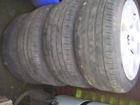 Set of 4 BMW Wheels