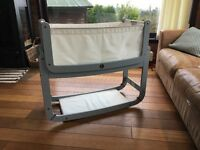 Snüz SnuzPod 2 3-in-1 Bedside Crib, Dove Grey