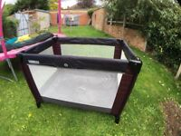 Baby playing cot in excellent condition