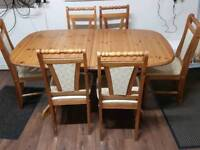 Used Dining Table with 6 chairs.