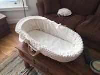 Moses basket - wicker, comfortable