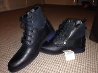 Brand new black leather boots size 9