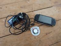 Sony PSP with F1 racing game