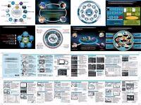 Graphic designer DTP specialist logos infographics flyers brochures diagrams publications boxes etc