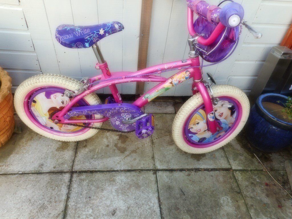 girls pink disney snow white bike