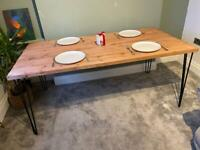 BRAND NEW: Rustic Scaffold Board Dining Table