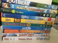 Children's DVDs x 10