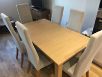 Extending Dining Table & Chairs (Next)