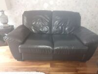 Brown Leather Suite (2 x 2 seaters)