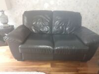 Brown Leather Suite (2 2 seaters)