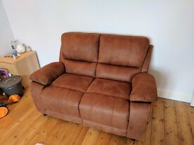 **New** 2 Seater Brown Suede Sofa **RRP £379** (see description)