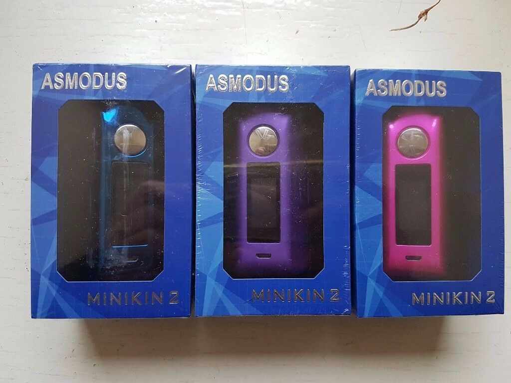 vape asmodus minikin v2 3 colours to choose new sealed