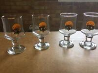 Floater coffee glasses 1970's vintage