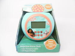 Moana LCD Color Changing Projecting Digital Display Alarm Clock Children Kids