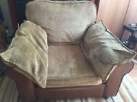 Large sofa chair leather an material