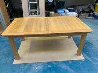 Extending Oak dinning table and 8 chairs