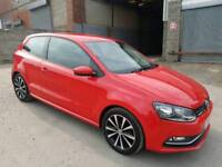 2014 VOLKSWAGEN POLO S 1.0 BLUE-MOTION 3 DOOR HATCHBACK RED FACE-LIFT 12 MONTHS M.O.T
