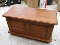 Solid Pine Blanket Box or Toy Box