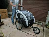 Child(x2) cycle trailer/stroller.