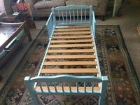 Child's Single Blue Bed - No mattress