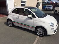 Fiat 500 1.2 Lounge, Low Milage, Full Service History, Air Con, Manual Excellent Condition
