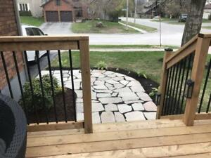 Flagstone of natural quartzite: Purple, bronze, white, golden: $6.04 a sq. ft in Barrie to pick up. Charge for delivery.