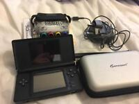 Nintendo ds with case and games