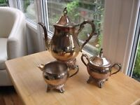 Attractive vintage style Silver Plated coffee set - 3 pieces never used. 40 years old.