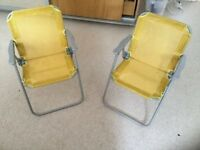 X2 Outdoor Yellow Children's Chairs