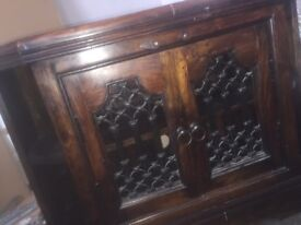 William Sheppee solid oak cabinet