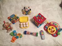 Selection of fisher price toys