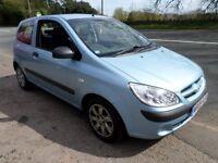 2008 HYUNDAI GETZ 1.1 FANTASTIC FIRST CAR CHEAP ON FUEL TAX AND INSURANCE MOT APRIL 2018